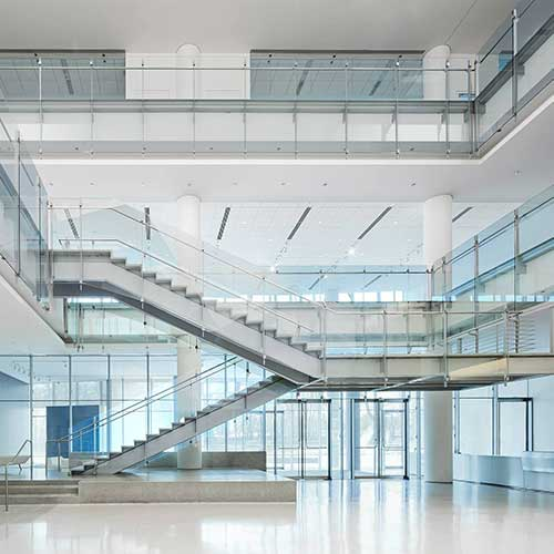 The interior staircases of Venu Six10 floor room.