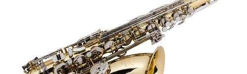 Close-up of a Selmer Saxophone