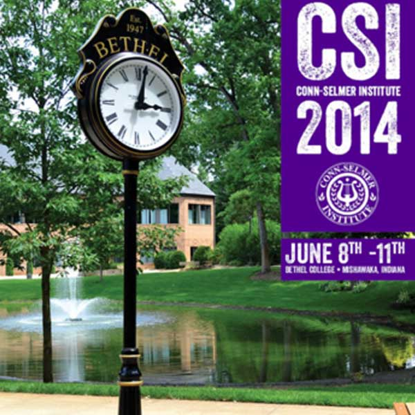Conn-Selmer Institute 2014 brochure front cover.