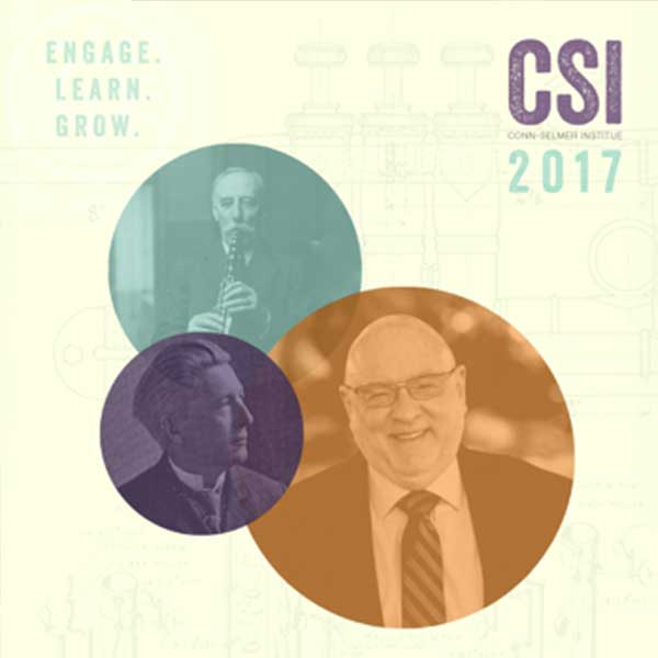 Conn-Selmer Institute 2017 brochure front cover.
