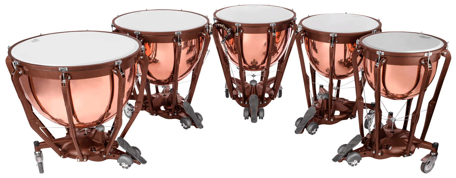 A set of four timpani drums