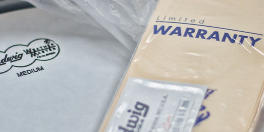 A Warranty Tag on product packaging