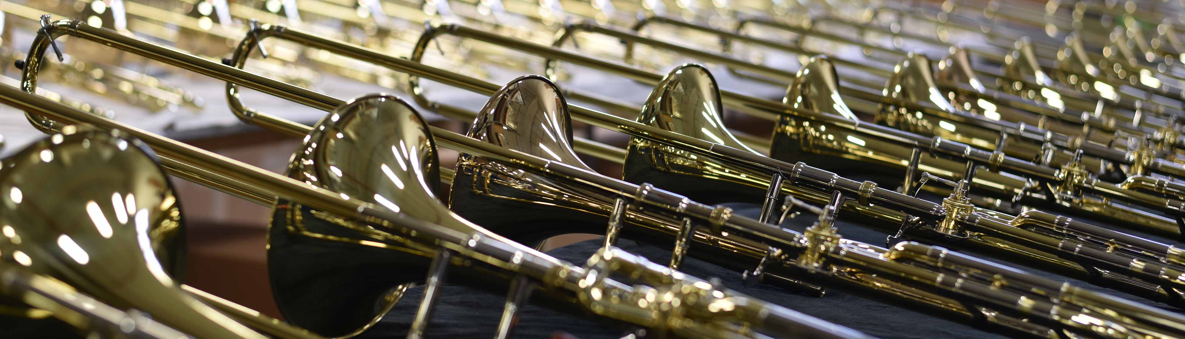Rows of Conn-Selmer Trumpets