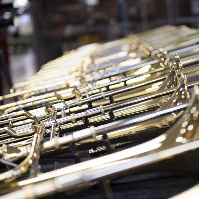 Rows of Brass Instruments